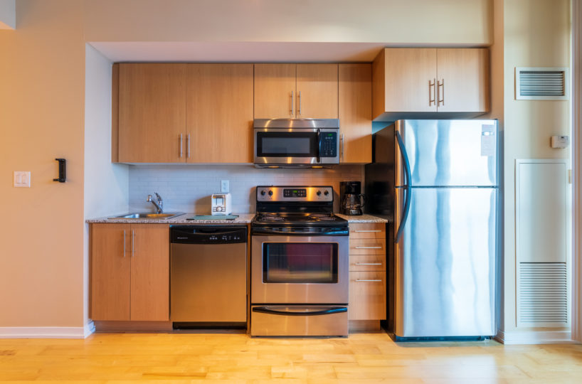 Suite for Rent at Maple Leaf Square Downtown Toronto, Kitchen Front