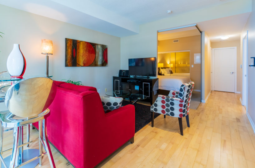 Suite for Rent at Maple Leaf Square Downtown Toronto, Living Room Entrance