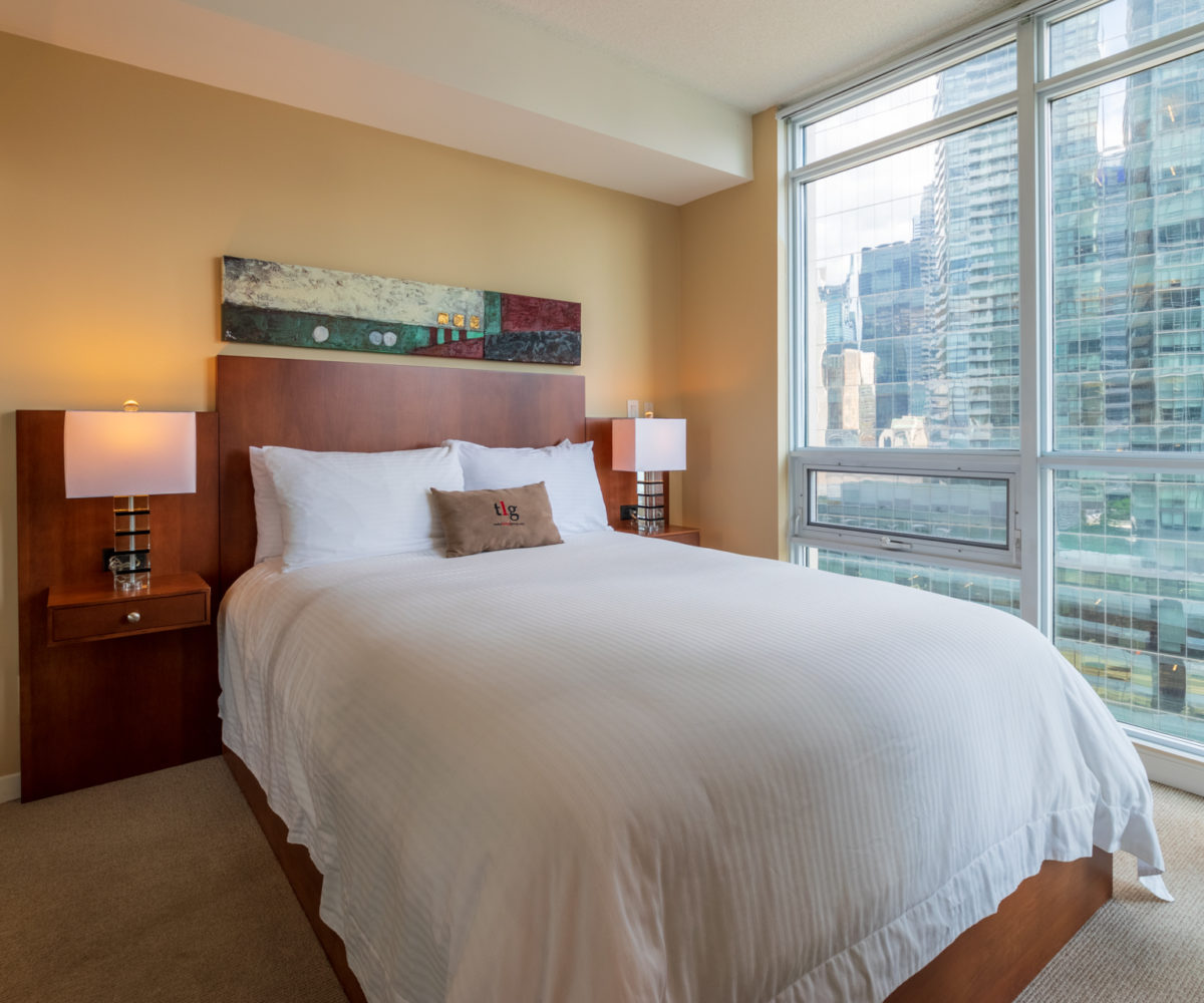 Suite for Rent at Maple Leaf Square Downtown Toronto, Bedroom, Custom Closet with built-in storage