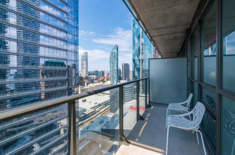 Suite For Rent at Maple Leaf Square Downtown Toronto. Balcony