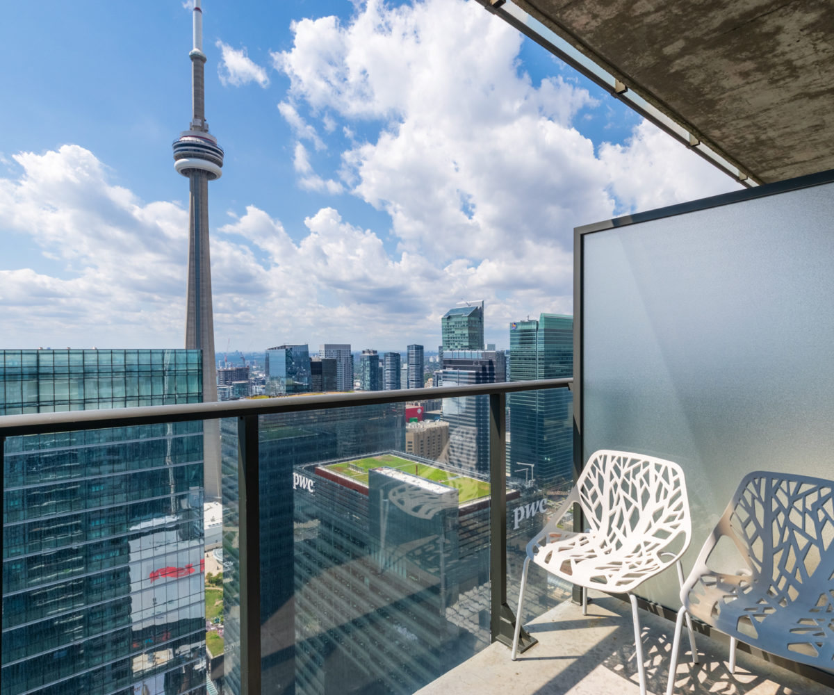 Rental at Maple Leaf Square Downtown Toronto Balcony CN Tower
