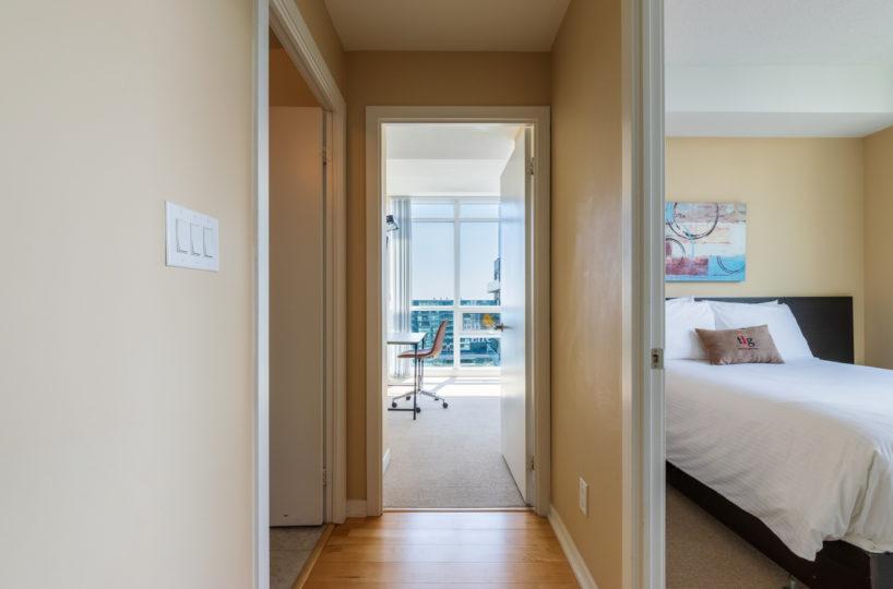 Rental at Maple Leaf Square Downtown Toronto HallWay Master Bedroom