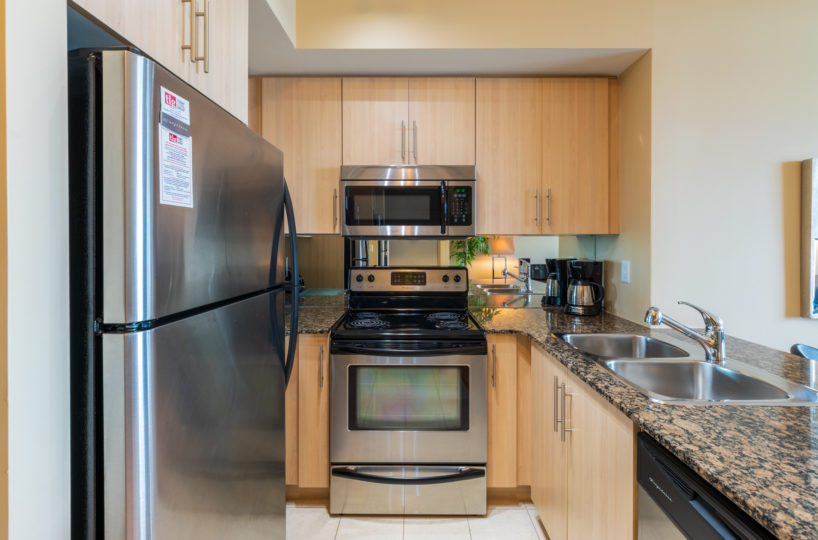 Rental at Maple Leaf Square Downtown Toronto Kitchen Front