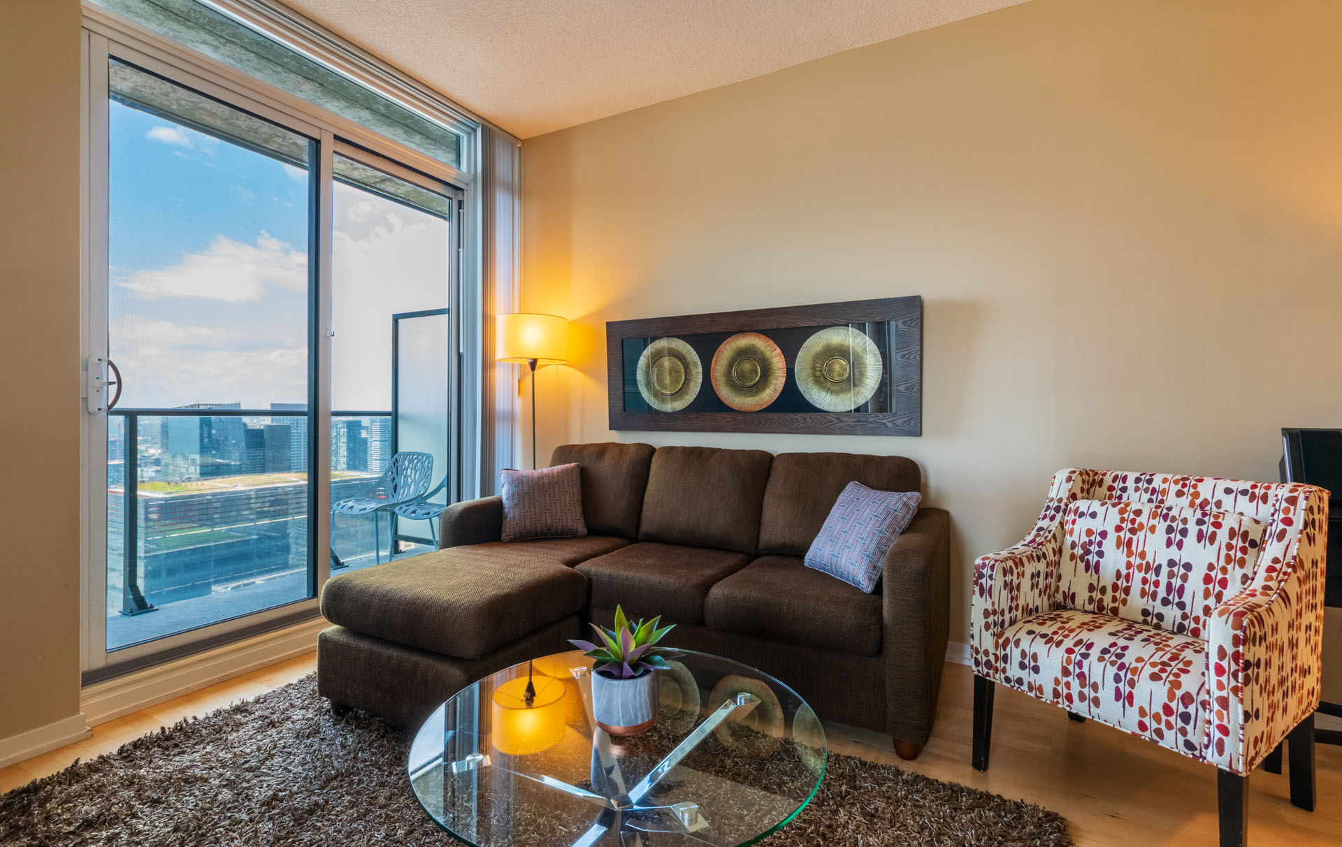 Rental at Maple Leaf Square Downtown Toronto Living Room