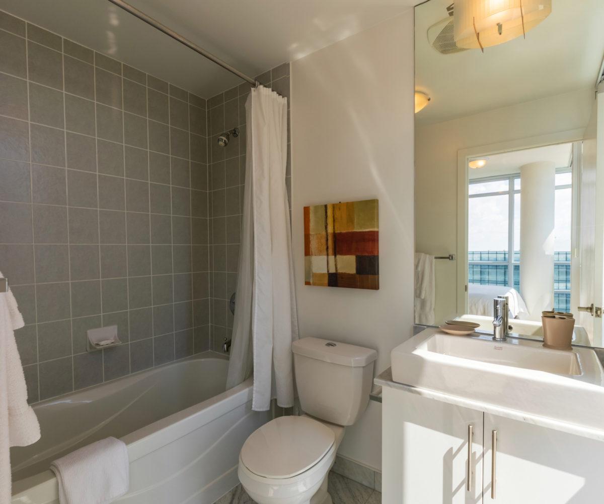 Rental at Maple Leaf Square Downtown Toronto Master Bedroom Washroom