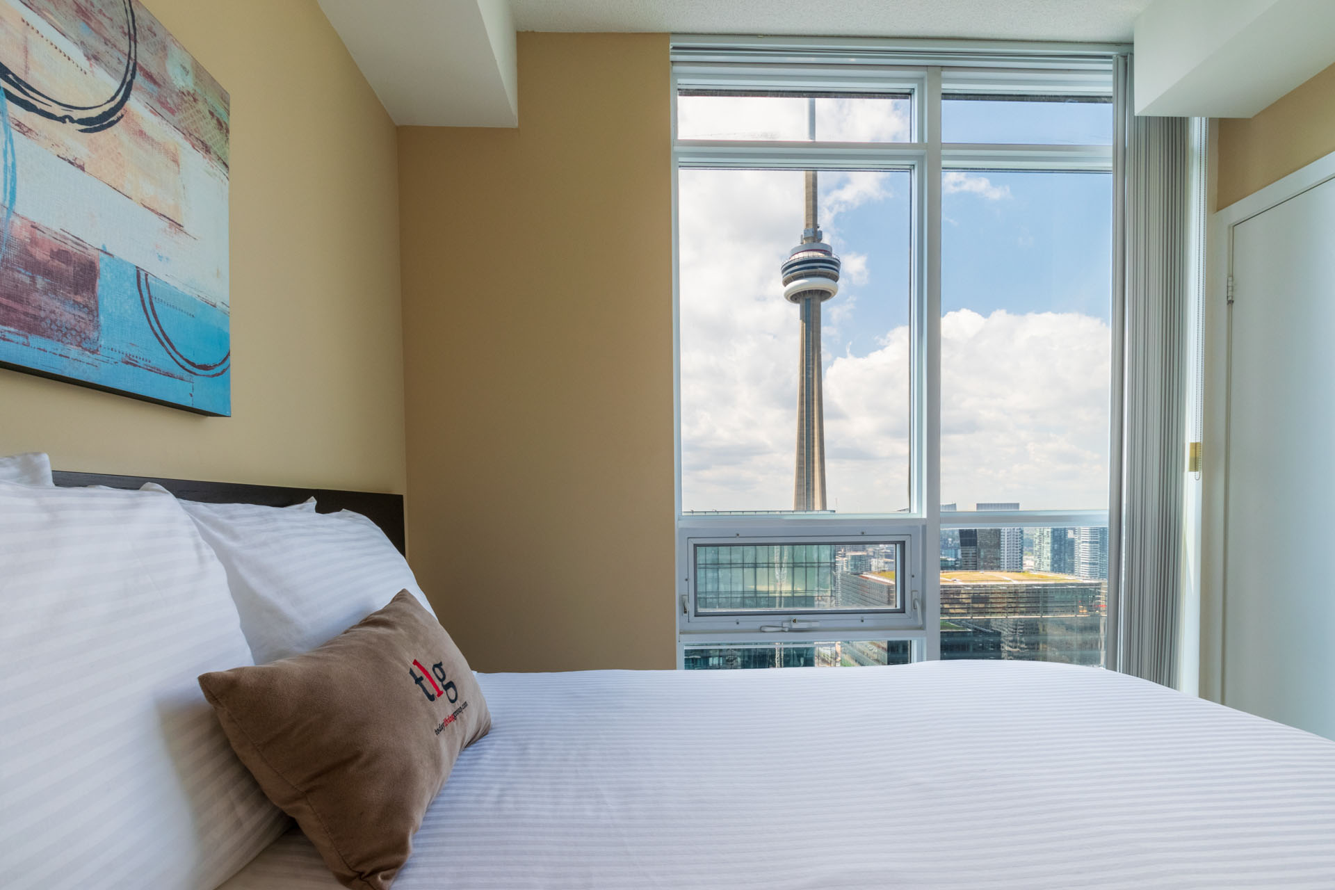 Rental at Maple Leaf Square Downtown Toronto Second Bedroom CN Tower
