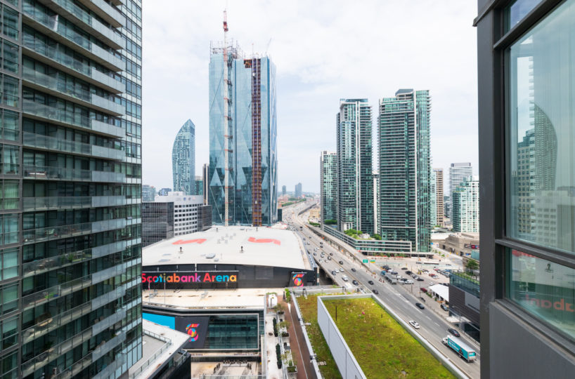 Suite for Rent at Maple Leaf Square Downtown Toronto, Balcony View, City Buildings