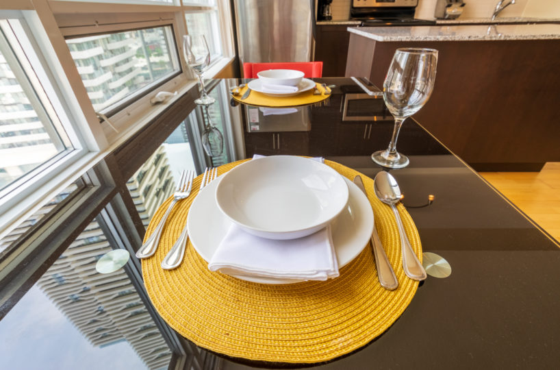 Suite for Rent at Maple Leaf Square Downtown Toronto, Dinning Dishes