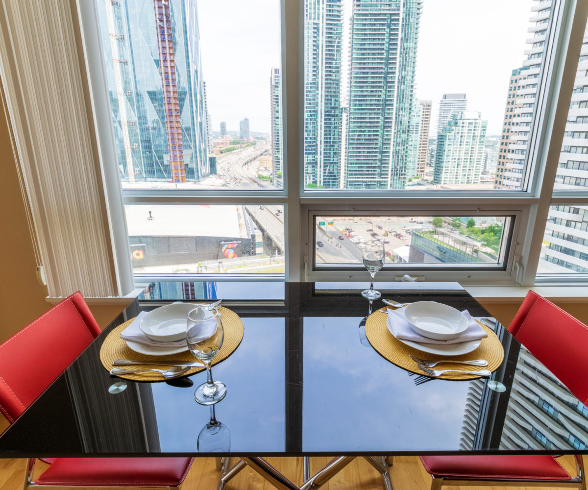 Suite for Rent at Maple Leaf Square Downtown Toronto, Dinning for two