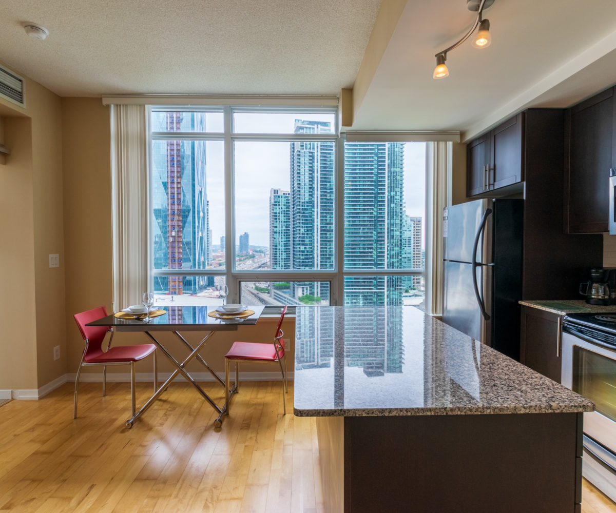 Suite for Rent at Maple Leaf Square Downtown Toronto, Kitchen Dinner Table