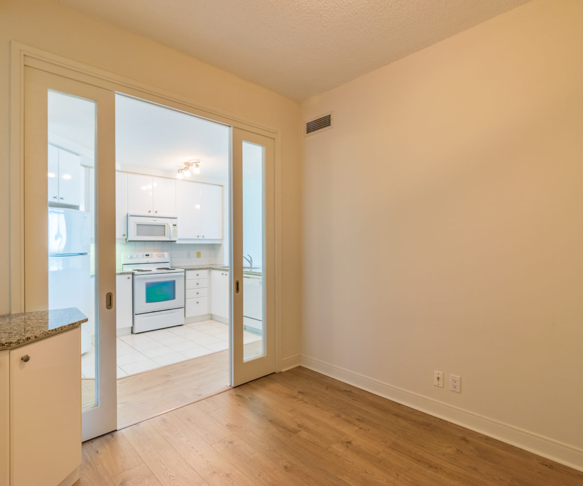 Mississauga Condo for Rent at 90 Absolute Inside Den Laminated Floor