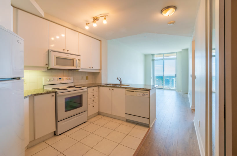 Best Mississauga Suite for Rent at 90 Absolute Downtown Kitchen Stainless Steel Appliances Terrace