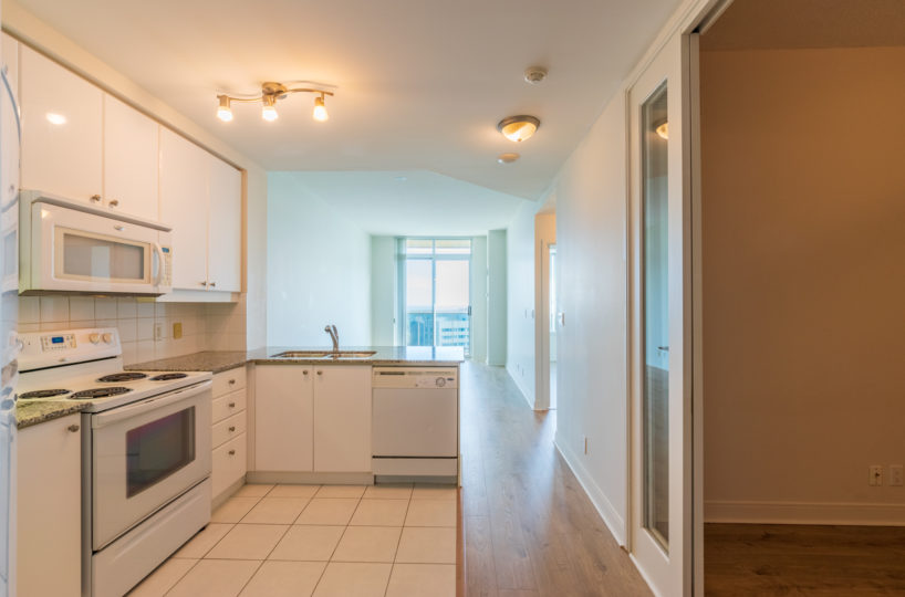 Mississauga Condo for Rent at 90 Absolute Kitchen Stainless Steel Appliances Den