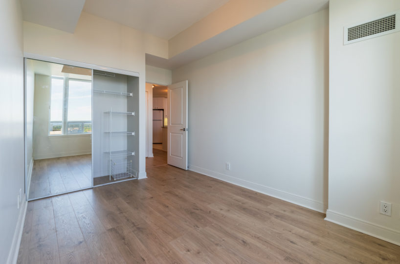 Mississauga Apartment for Rent at 90 Absolute Master Bedroom Open Closet
