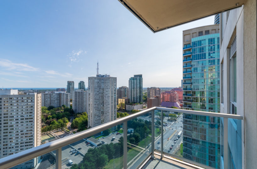 Mississauga Condo for Rent at 90 Absolute Terrace view to Downtown