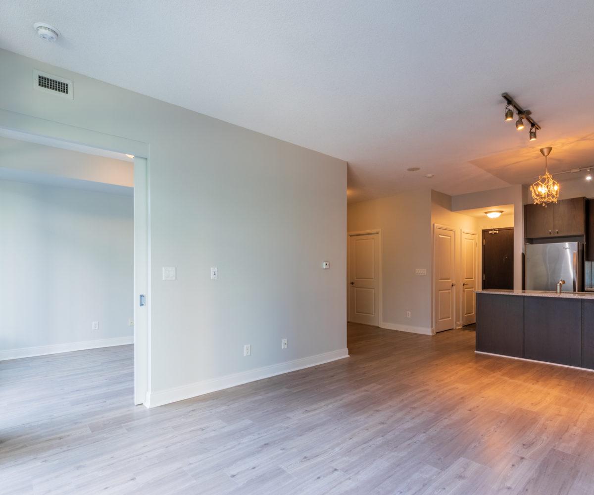 Rental Condo, Kitchen, master Bedroom Entrance