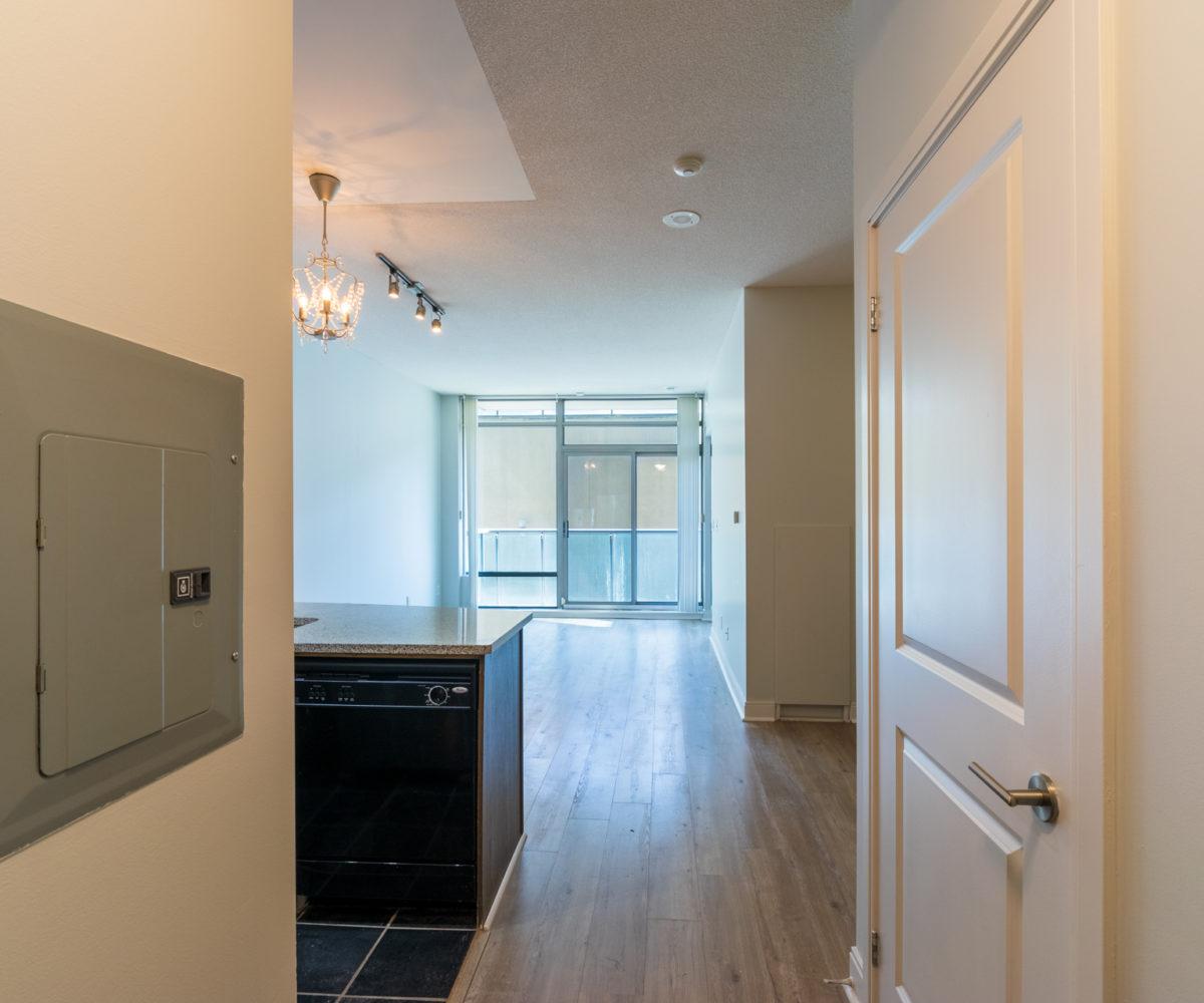 Rental Condo, Living Room, Den, HallWay