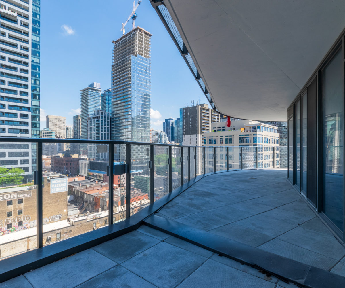 Rental Suite Balcony near Wellesley Station, Terrace, Beautiful view of Buildings