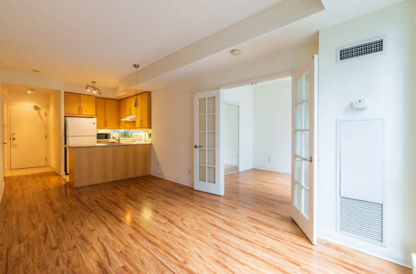 Apartment for Rent at Elev'n Residences. Toronto, Ontario. Entrance Living Room Master