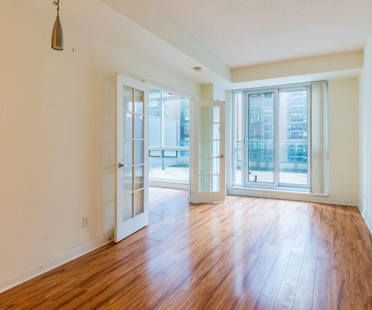 Condo Rental at Elev'n Residences. Toronto, Ontario. Living Room