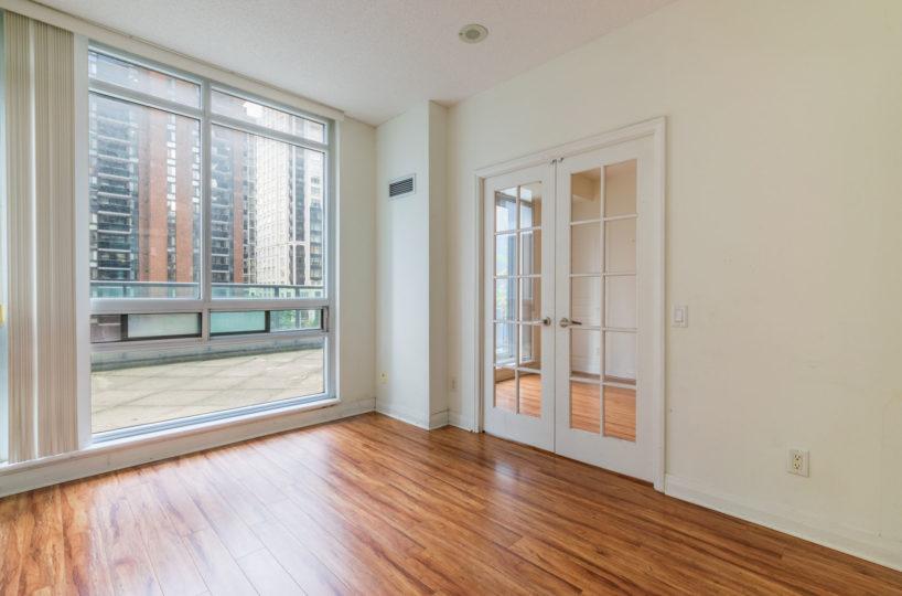Condo Rental at Elev'n Residences. Toronto, Ontario. Master Bedroom