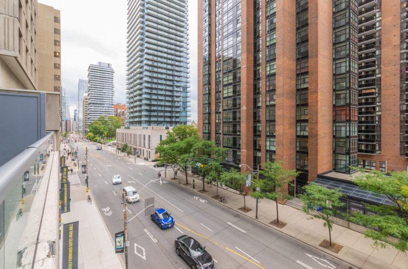 Affordable suite at Elev'n Residences. Rental at Toronto, Ontario. Panorama view