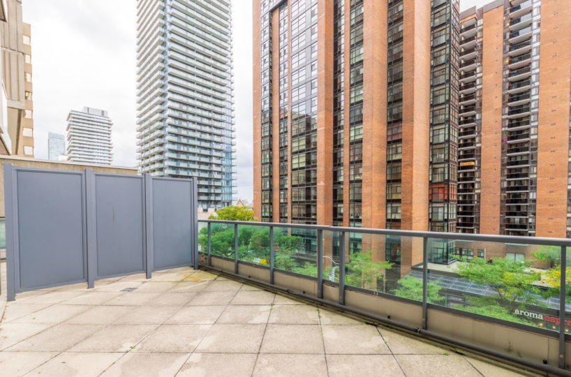 Suite for Rent at Elev'n Residences. Toronto, Ontario Terrace view
